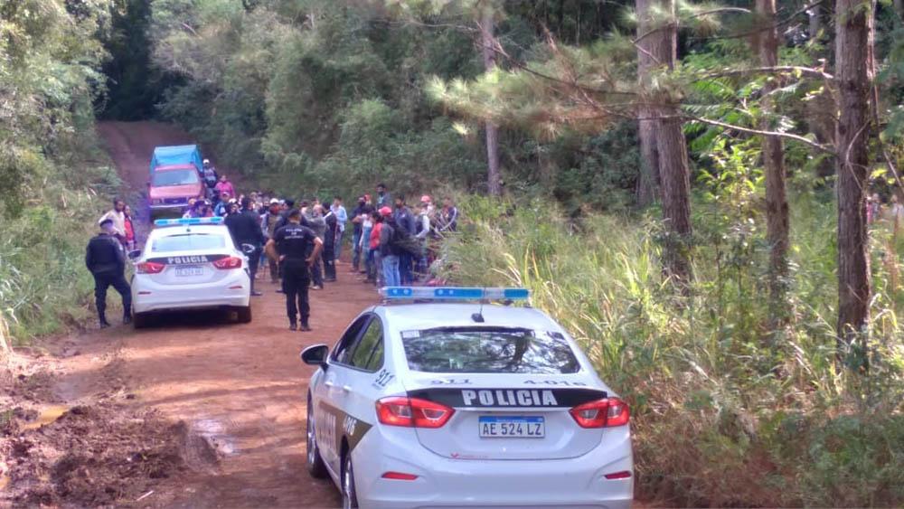 La Policía frustró un intento de usurpación de tierras