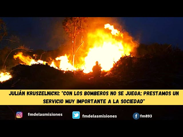 El Soberbio: bombero que había sido despedido del trabajo por ir a sofocar incendios ya tiene empleo
