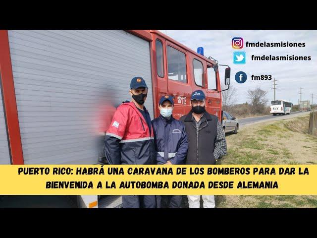 Mañana llega a Puerto Rico la autobomba donada por Alemania a los bomberos y habrá caravana